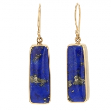 Lapis Dangle Earrings Image